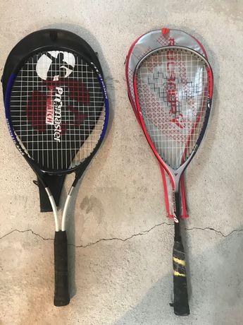 2 raquetes squach e ténis