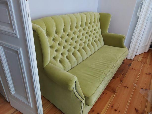 Sofa welurowa jasny zielony