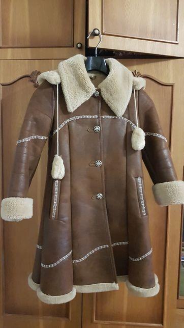 Зимняя дублёнка для девочки