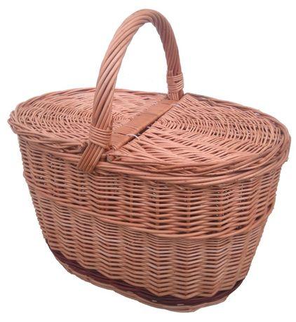 Kosz na piknik, zakupy (pas brązowy - dół)