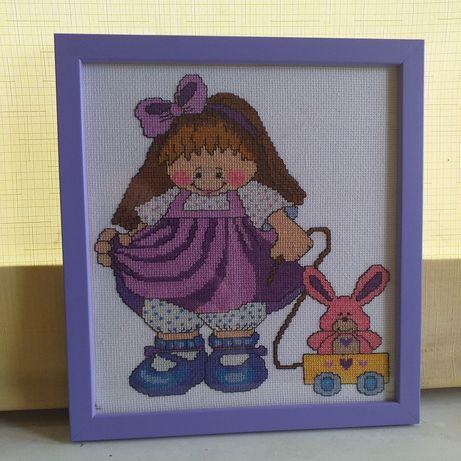 Картина вышитая 'Маленькая модница'