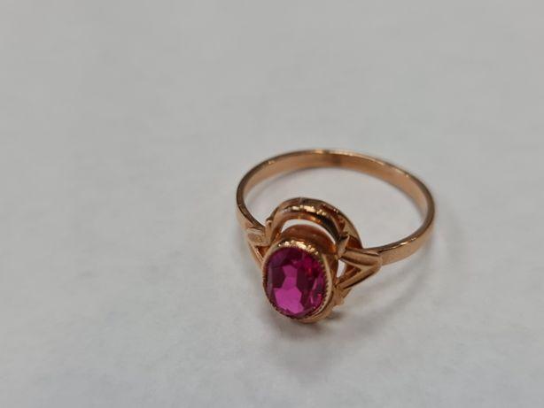 Wyjątkowy złoty pierścionek damski/ Radzieckie 583/ 2.91 gram/ R17
