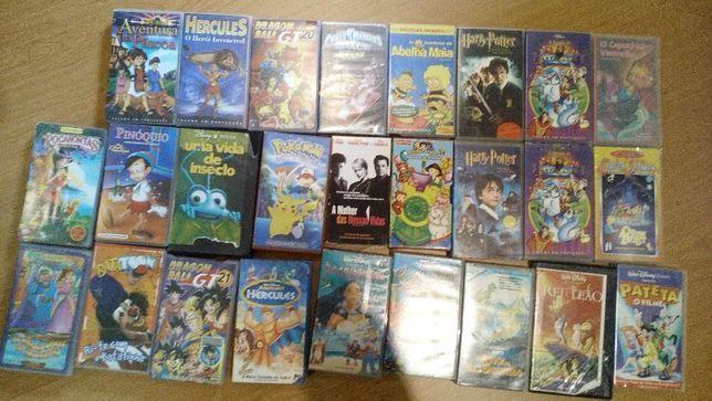 Cassetes Vídeo desenhos animados vhs