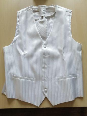 Kamizelka ślubna z krawatem rozmiar M