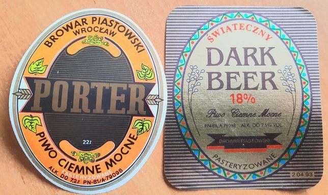 2 etykiety mocnych piw z Piasta