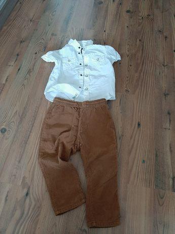 Spodnie sztruksy H&M 92