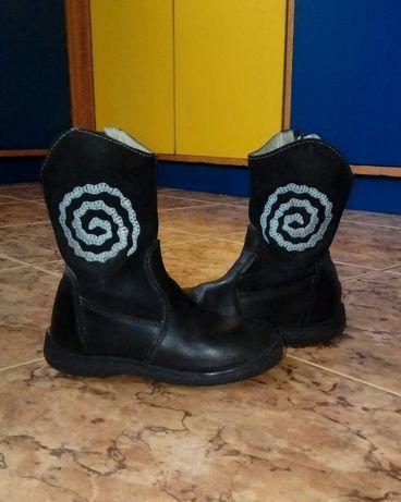 Buty kozaki czarne 28