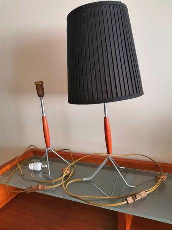 par candeeiros mesa de cabeceira metal+madeira