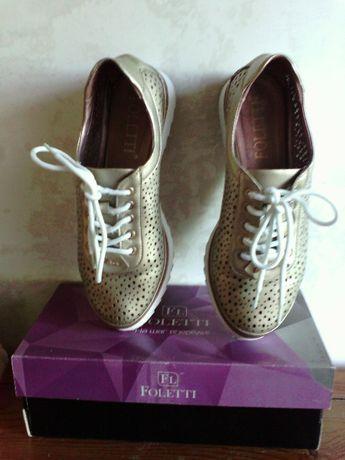 Продам слипоны женские на шнурках, натуральная кожа, размер 39