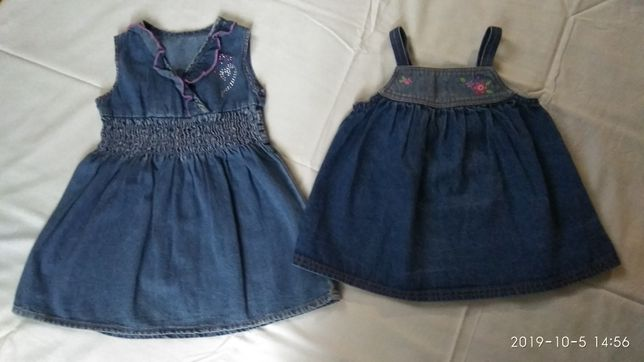 Джинсовое платье сарафан на возраст 1,5-3 года