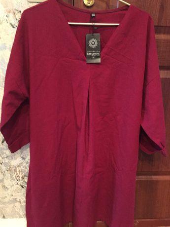 Шикарное новое платье из льна. Торг!