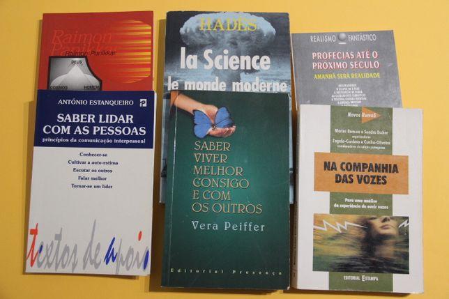 Livros sobre Astrologia, Religião, Comunicação, Profecias, Relaçõe etc