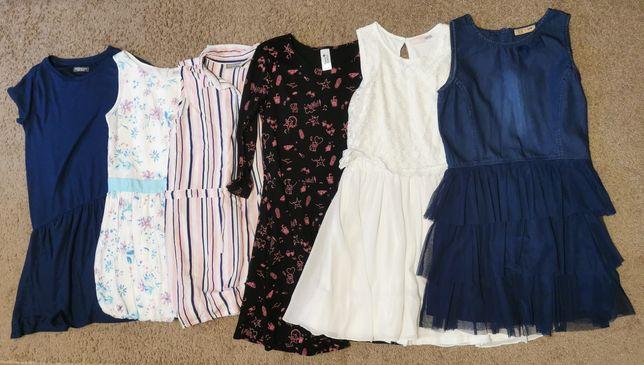 Sukienki rozmiar 158 (6 sztuk)
