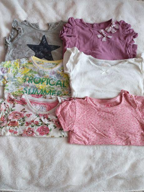 Bluzka t-shirt koszulka krótki rękaw 80 next 51015