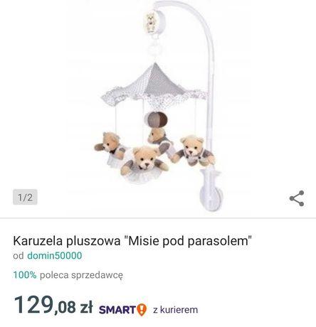 Karuzela misie pod parasolem