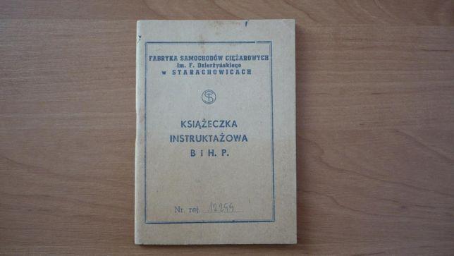 Kolekcjonerska książeczka BHP FSC Star Starachowice
