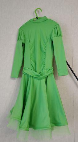 Платье для бальных танцев , детское. Basic зеленое