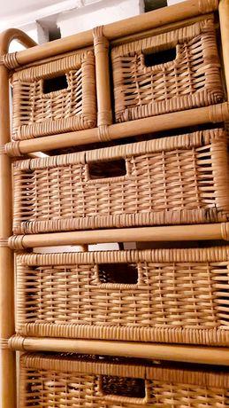 Komoda szafka wiklina szuflady