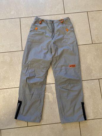 spodnie zimowe na śnieg, sanki, szare dziecięce rozmiar 152 cm