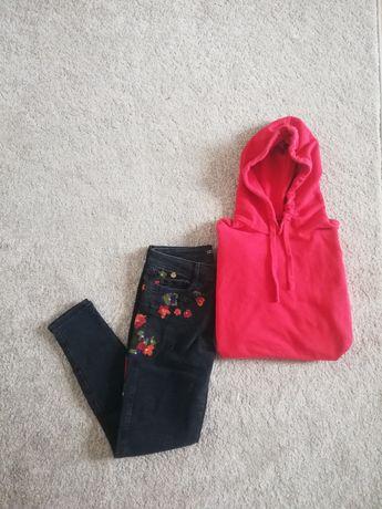 spodnie Zara z haftem 34 xs