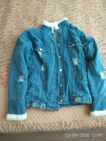 Новая джинсовая тёплая куртка