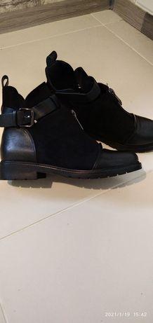 Обувь женская, сапожки укороченные