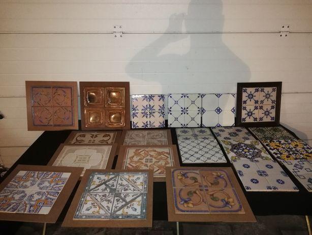 Lote azulejos antigos velharias careca