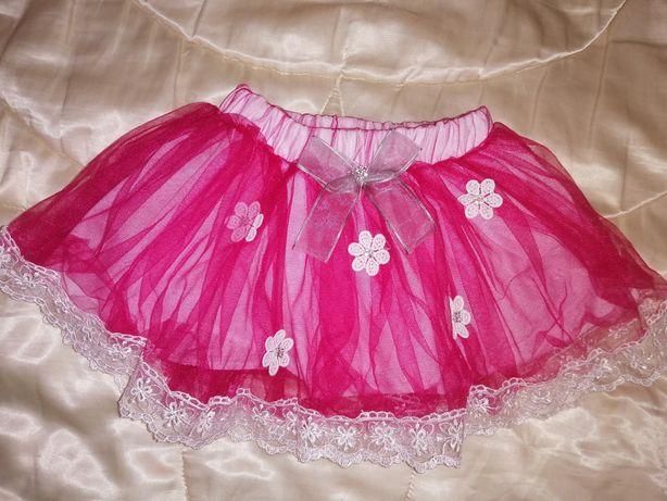 Фатиновая, нарядная юбка для девочки