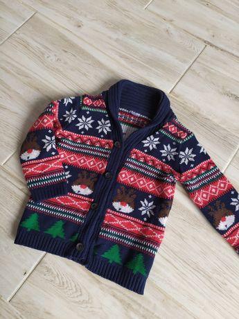 Sweter sweterek świąteczny zimowy 74 80