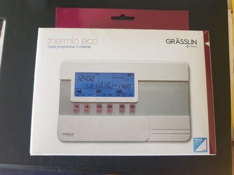 3 kanałowy zegar z termostatem do CO, sterowanie CO, Grasslin