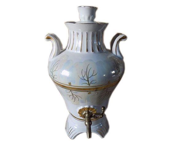 Samowar z porcelany z czajniczkiem