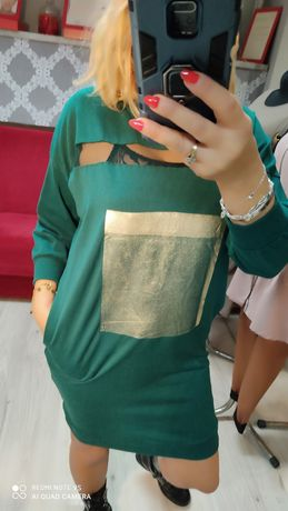 Tunika sukienka na wiosnę bawełna rozm s,m,l