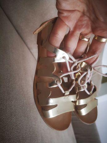 Buty złote sandały Zara r 27