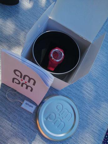 Zegarek am pm różowy  oryginalny z pudelkiem