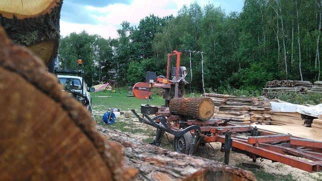 cięcie drewna u klienta - MOBILNY TARTAK - WIEZBA , DąB, Sosna, Swierk
