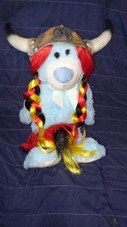 strój kostium nowy Hełm wikinga z rogami i włosami Obelix bal karnawał