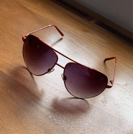Okulary przeciwsłoneczne H&M czerwone