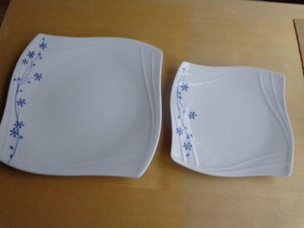 2 kpl. po 2 talerze z ekskluzywnej porcelany