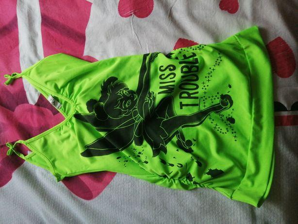 Koszulka piękna na ramiączkach bardzo dopasowana S cena 15 zł