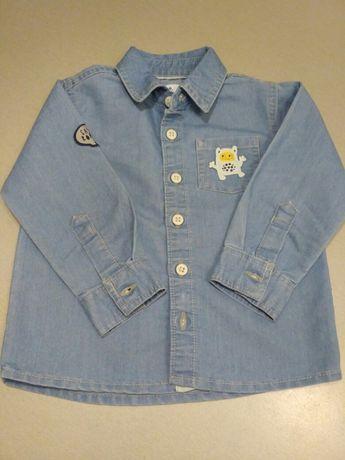 Koszula jeansowa 5-10-15 - 80 - nowa