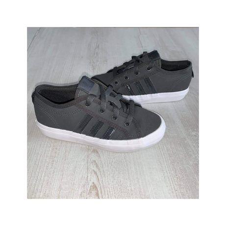 Adidasa nizza buty sportowe 31,5 szare białe grafitowe tenisowki tramp