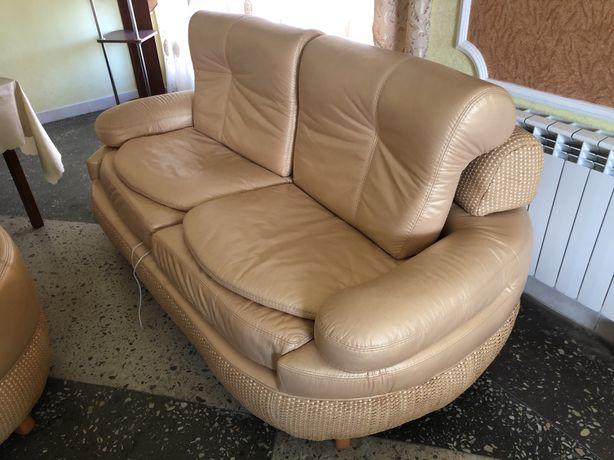 Диван та крісло з натуральної шкіри