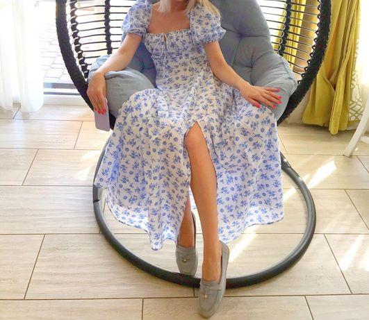 Платье хлопок макси