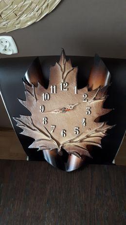 Zegar liść vintage