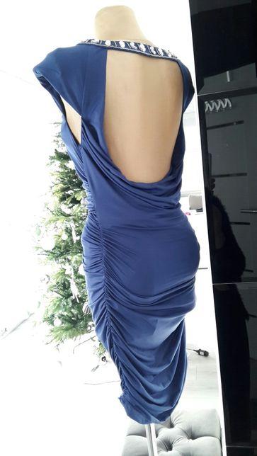 Onenes *idealna granatowa sukienka roz 38 M