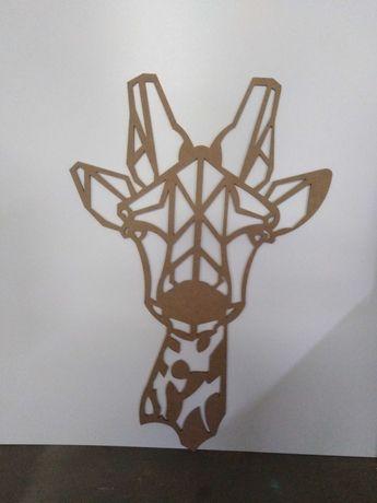 Geometryczny motyw na ścianę wilk, koń
