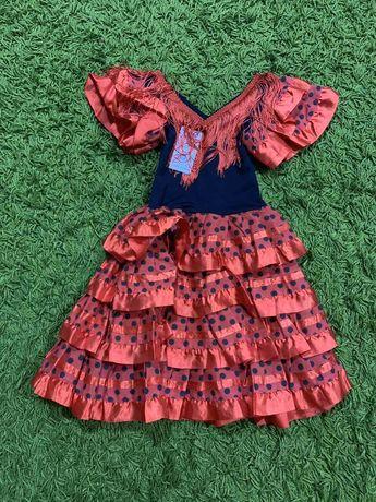 Карнавальное платье цыганка испанка Кармен на4года, на 5-6лет, 8-10лет