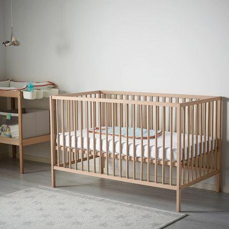 SNIGLAR Ikea  Łóżko dziecięce, buk, 60x120 cm z materacem używane
