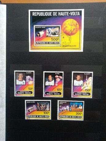Znaczki pocztowe Górna Volta,Mongolia,Mauretania,Congo,Cuba,Usakomplet