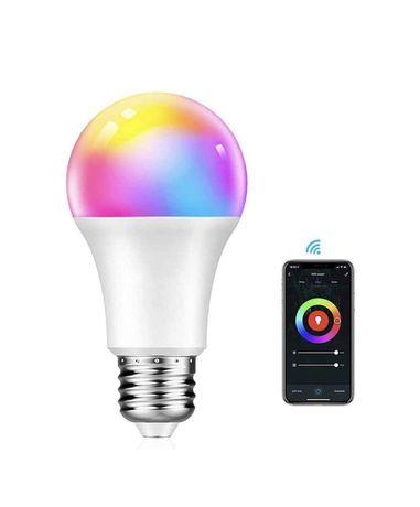 Lâmpada LED RGB WIFI E27 - Alexa/Google (NOVO)